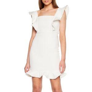 White Bardot Ashley Frill Cocktail Dress